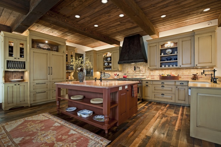 Bon Simple Rustic Kitchen Furniture
