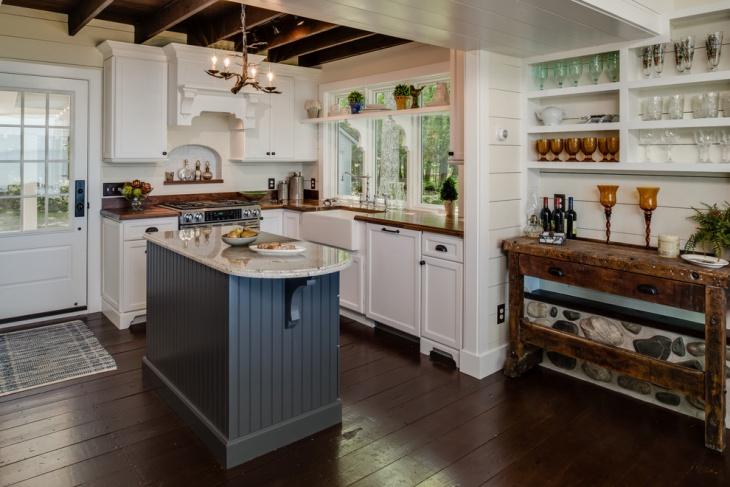 Rustic White Cottage Kitchen