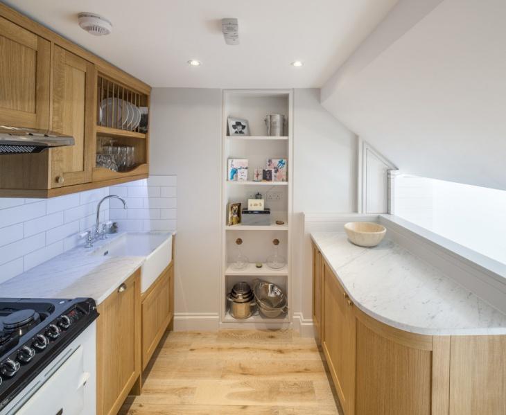 simple small kitchen storage design