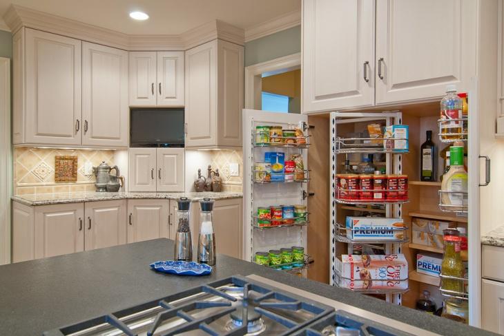 small kitchen pantry storage design