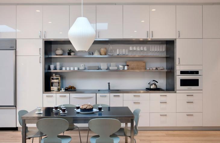kitchen built in wall storage