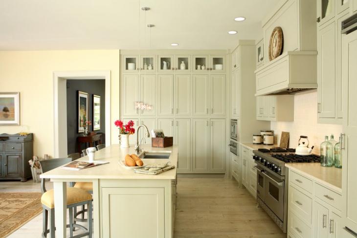 traditional kitchen wall storage idea