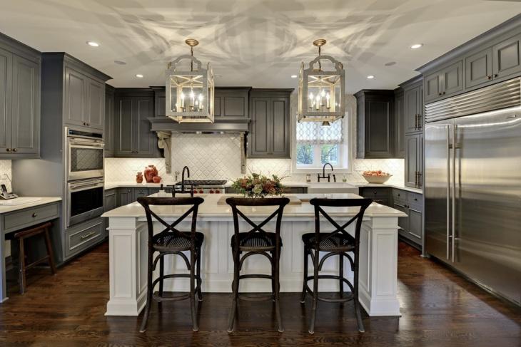 grey kitchen storage furniture design