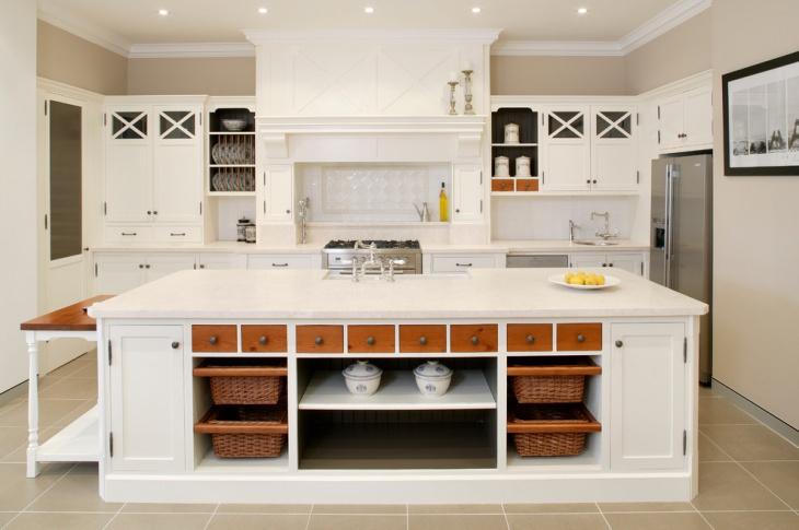 white kitchen storage furniture design
