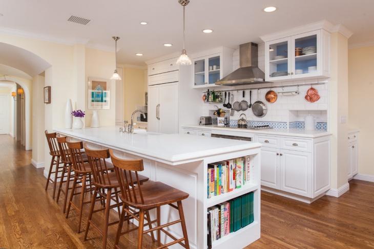 cool white kitchen storage idea