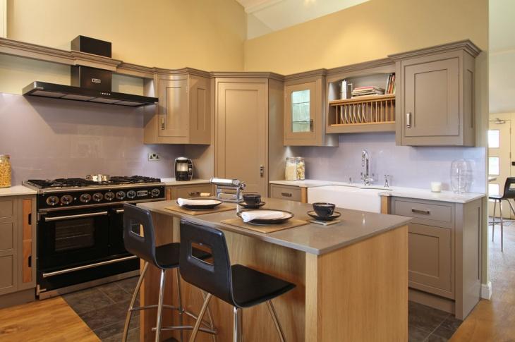 corner built in wall kitchen storage idea