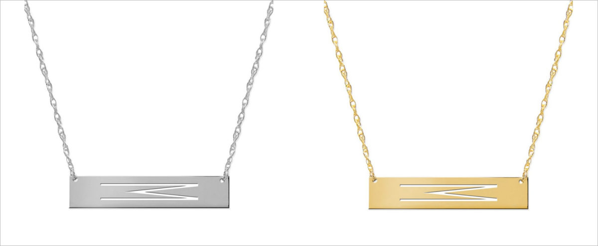 jane basch personalized bar pendant necklace