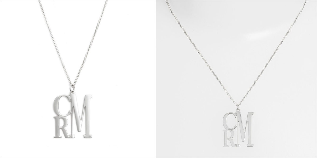 argento vivo circular three initial necklace