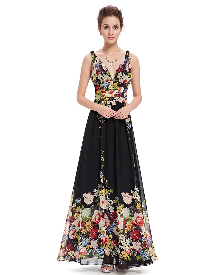 semi formal floral dress