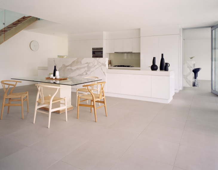 large kitchen floor tile design
