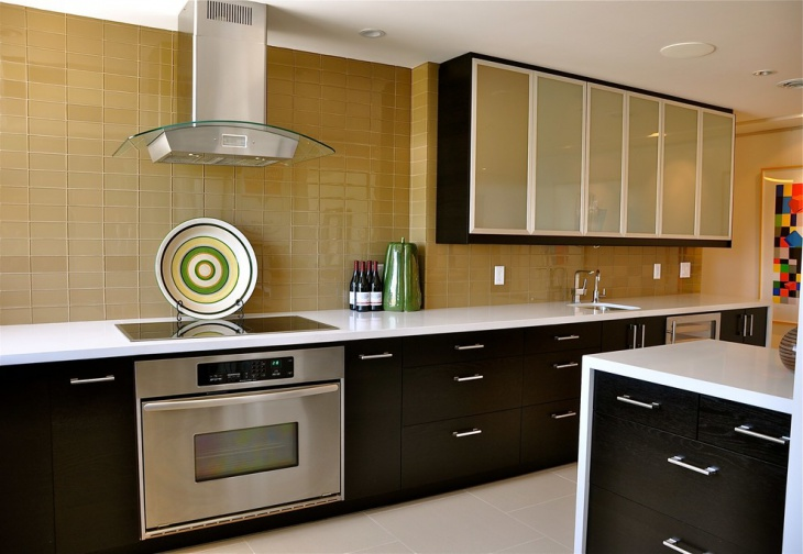 contemporary kitchen wall tile