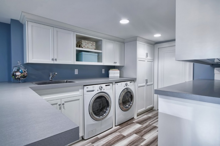 laundry room tall storage cabinets