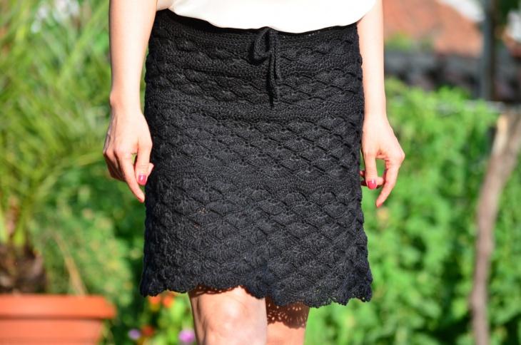 flared mini black skirt
