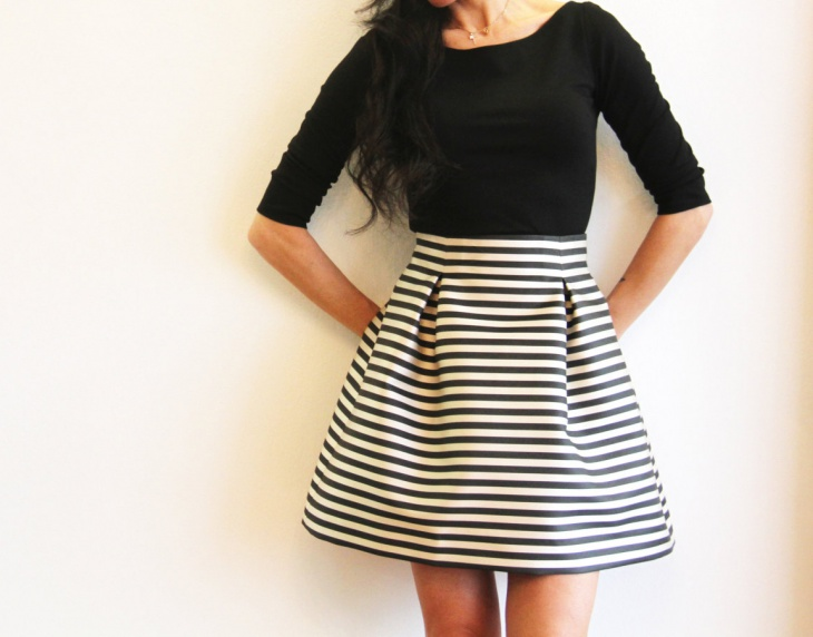 Find black and white stripe mini skirt at ShopStyle. Shop the latest collection of black and white stripe mini skirt from the most popular stores -.