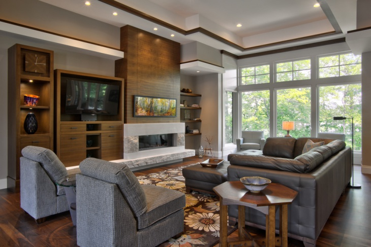 Modern Country Living Room Wall Cabinets