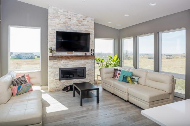 20 best modern living room designs ideas design trends premium psd vector downloads for Modern fireplace living room design