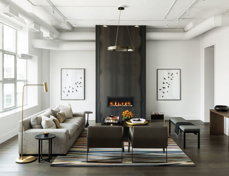 modern industrial living room wall art
