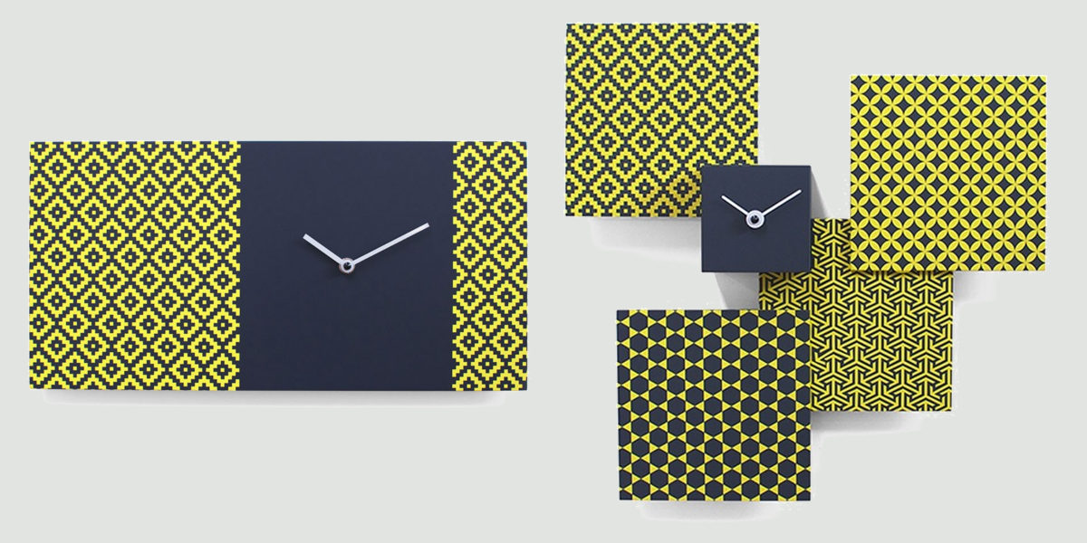 partner 2372 grey yellow analog wall clock