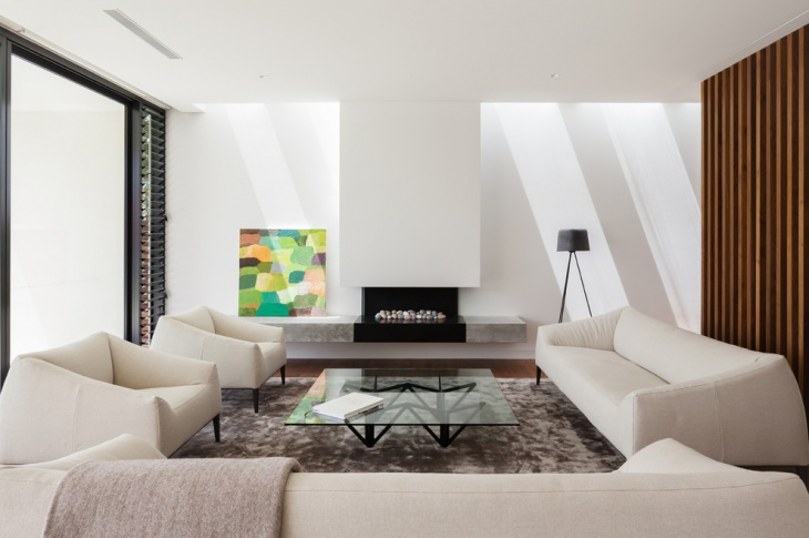 Modern Formal White Living Room