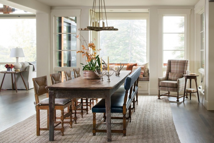 Rustic Dining Room Metal Lighting
