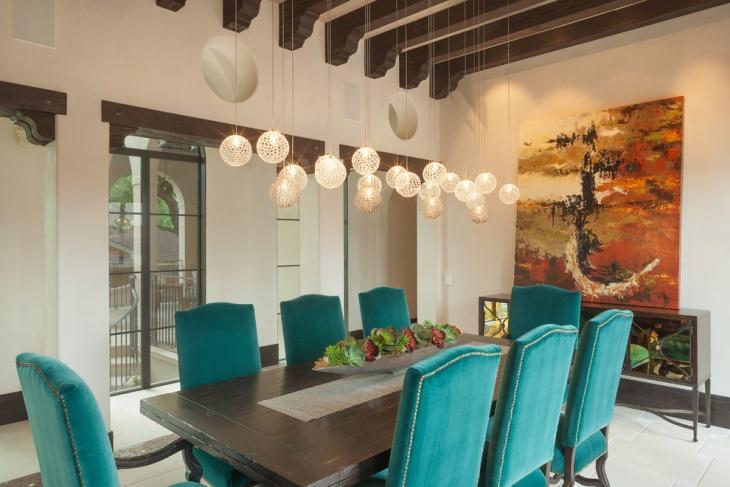 dining room hanging mod pendant lights