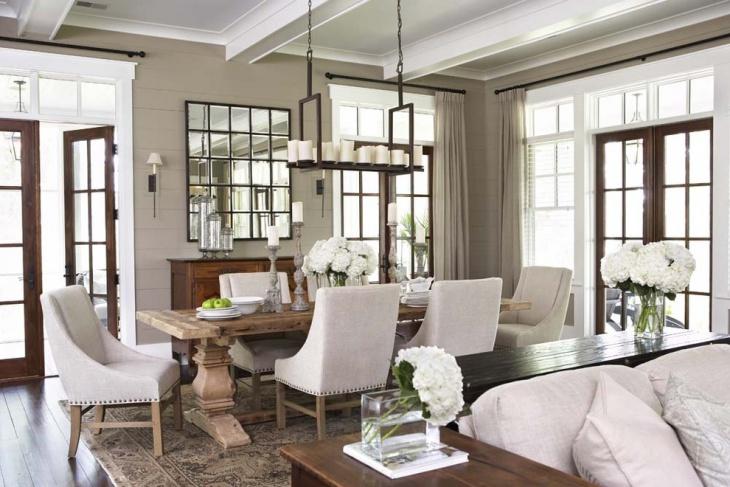 rectangular shape hanging light for dining room
