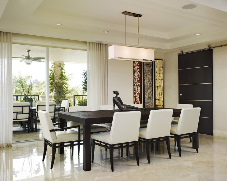 Cool Contemporary Dining Room Lighting