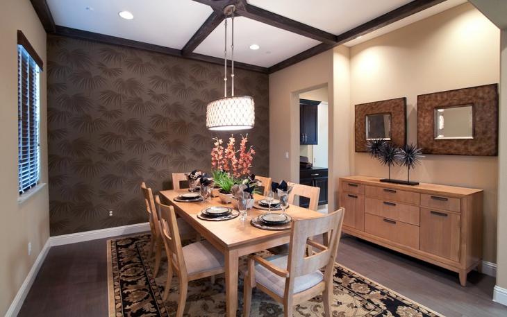 contemporary dining room hanging lighting