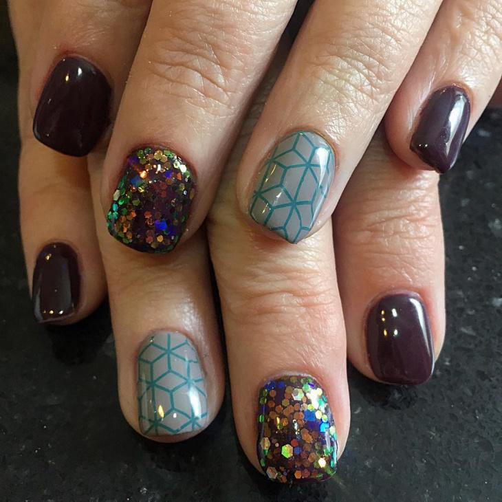 coffin gel short nails