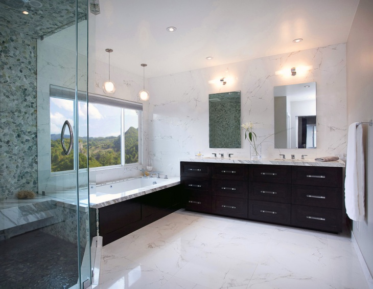 contemporary modern bathroom decorating