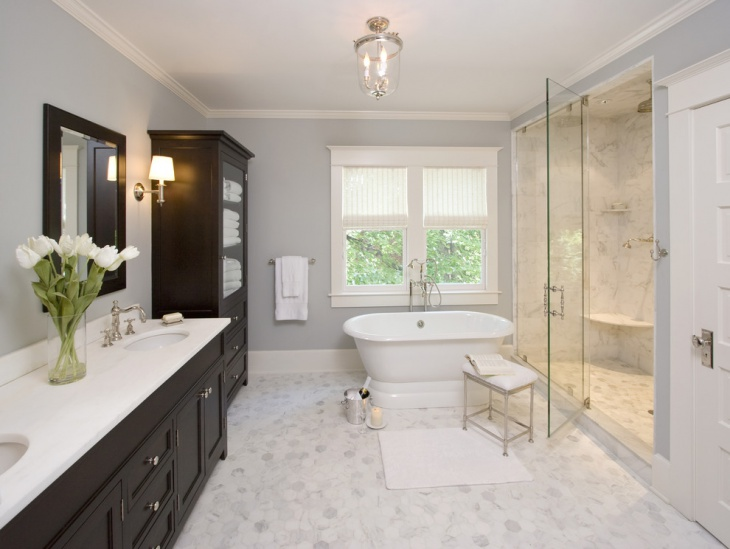 traditional master bathroom decorating idea