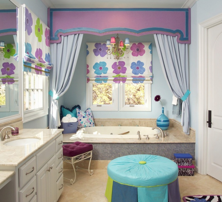 traditional kids bathroom decorating