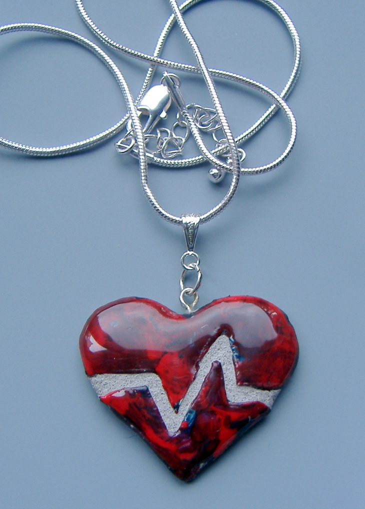 handmade broken heart necklace