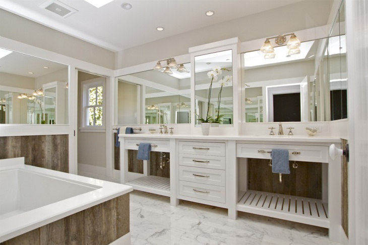 farmhouse bathroom vanity decorating