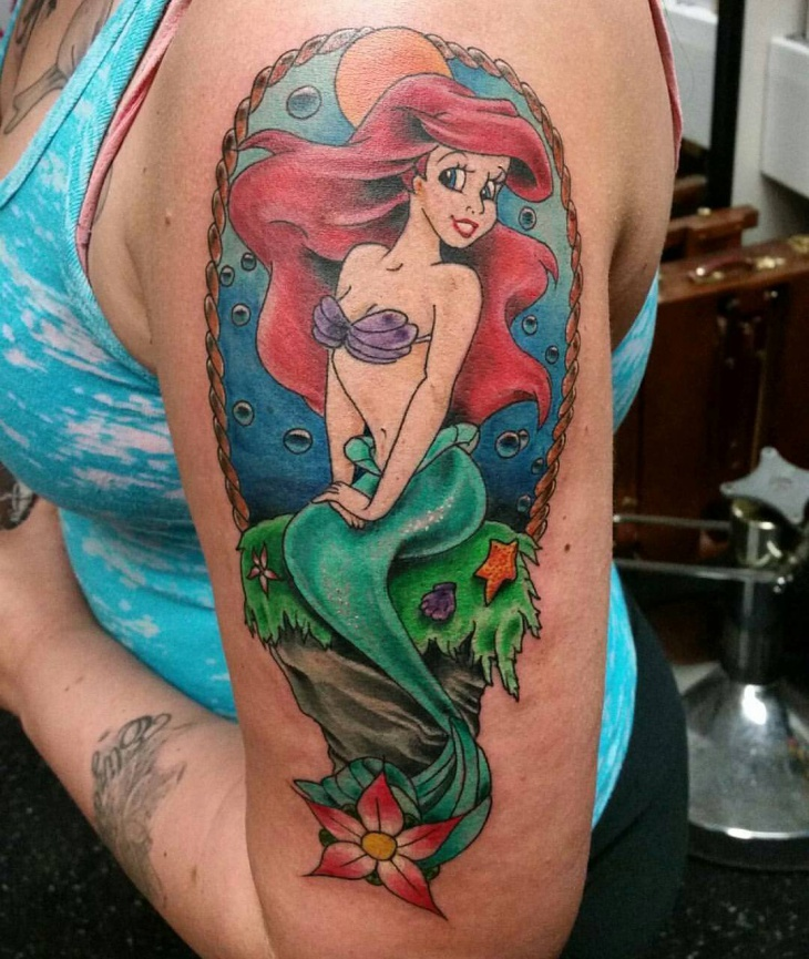Mermaid Sleeve Tattoo for Women