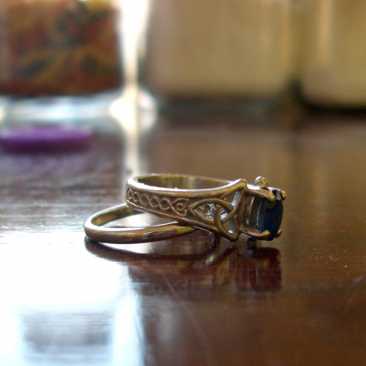 vintage sapphire celtic engagement ring