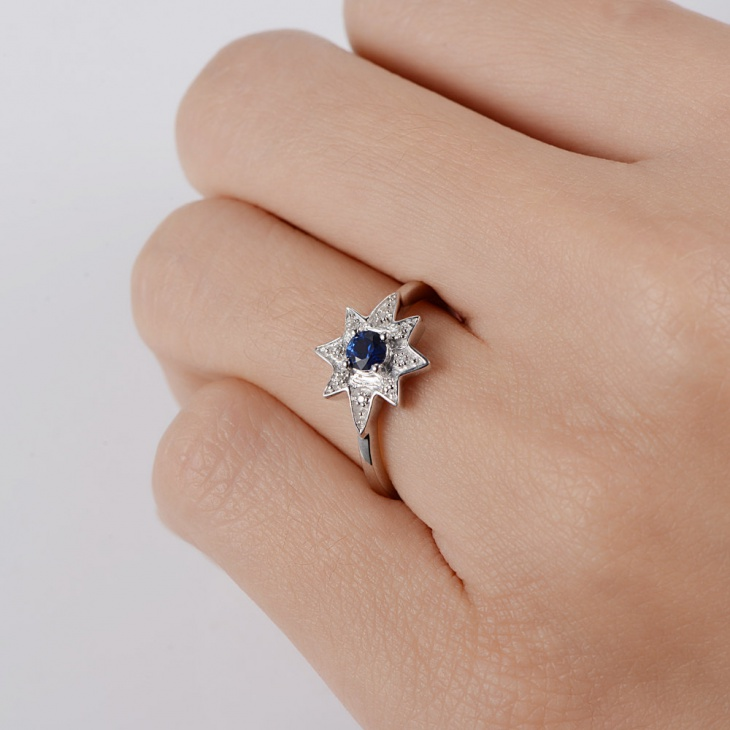 star sapphire engagement ring for women