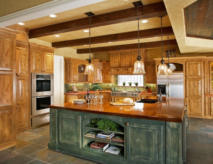 rustic kitchen hanging pendant lighting
