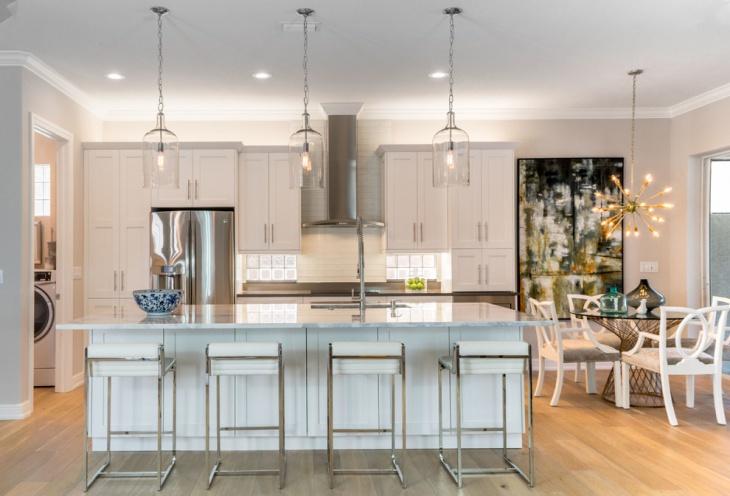 trasitional kitchen glass pendant lighting