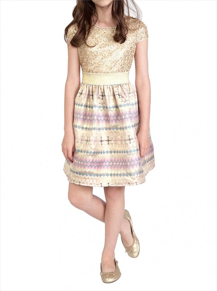 aztec gold sequin skirt