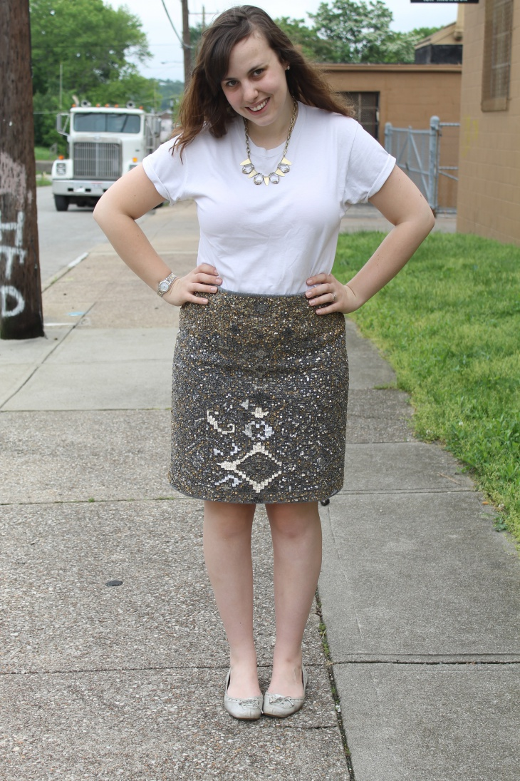 sequin party skirt for women