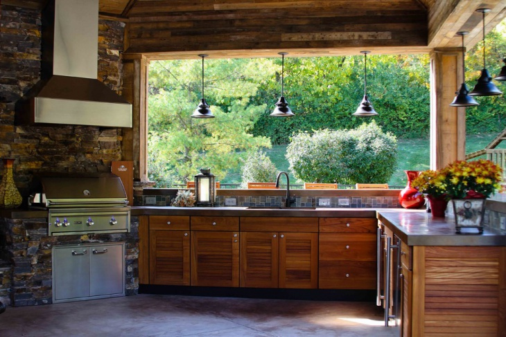 18 kitchen pendant lighting designs ideas design for Rustic outdoor kitchen ideas