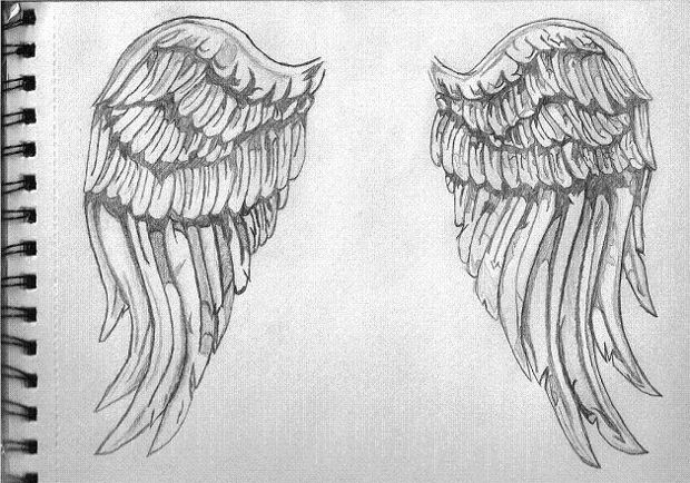 Simple angle wings drawing