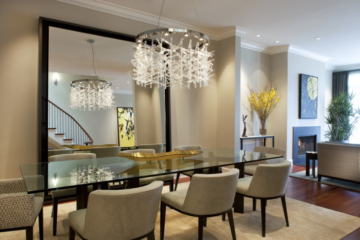 modern glass round shape chandelier