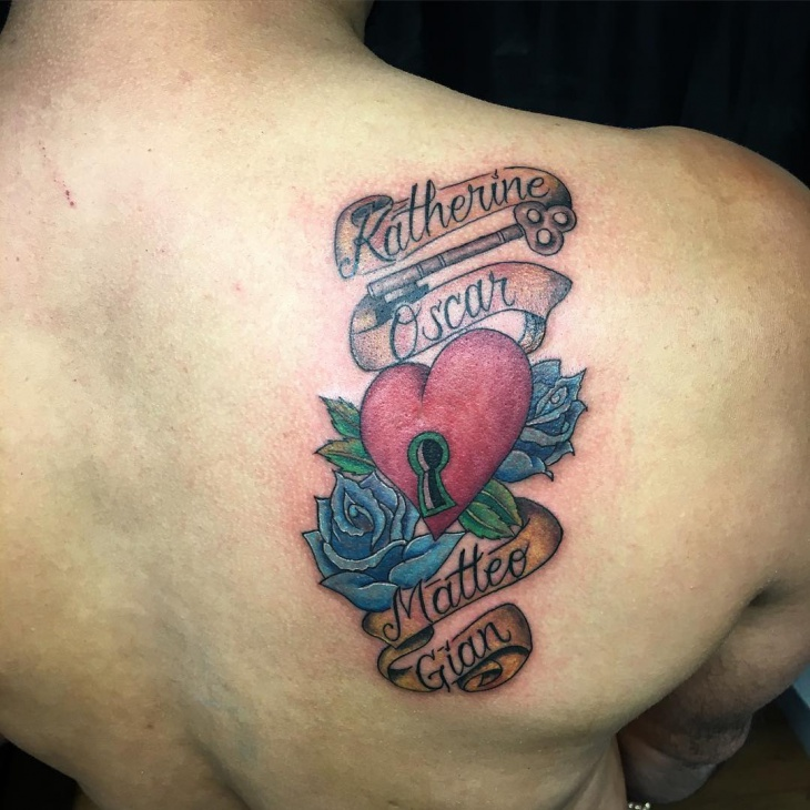 Quote Rose and Heart Tattoo