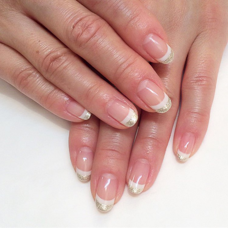 simple new year tip nail art