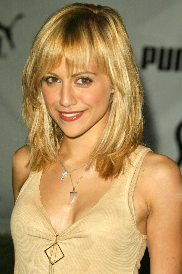 Brittany Murphy Medium Length Blonde Hairstyle