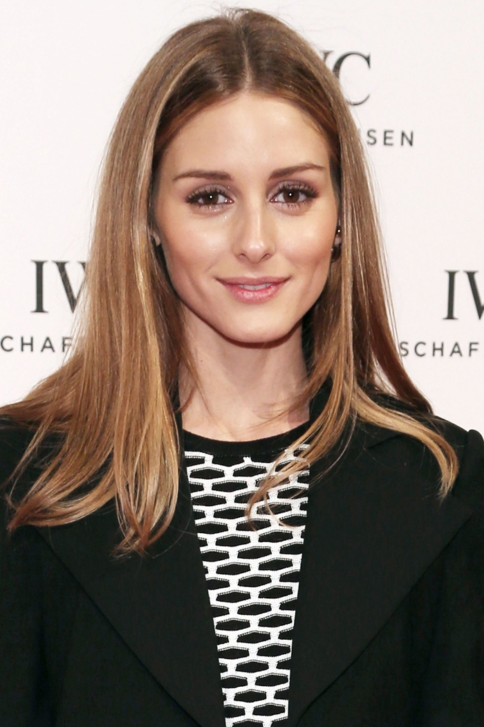 olivia palermo medium length straight hairstyle