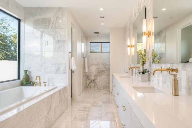 white vanity bathroom countertop