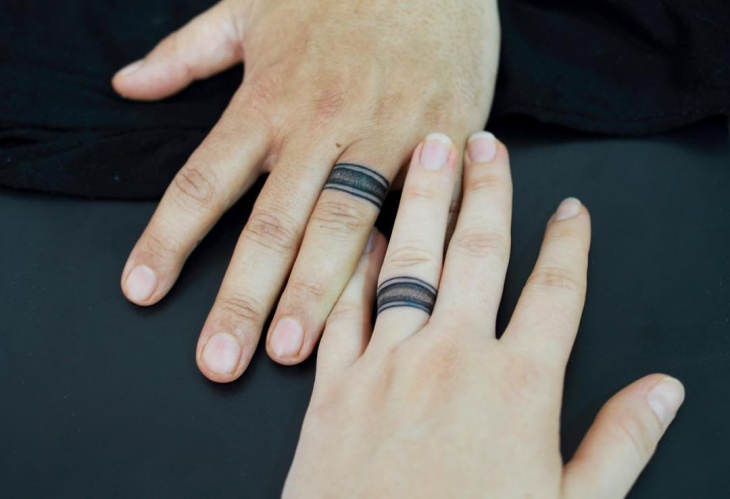 Wedding Finger Ring Tattoo For Couples